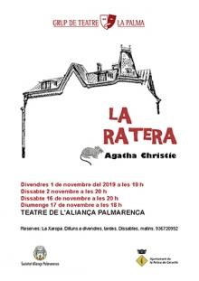 La Ratera, d'Agatha Christie. (Novembre 2019)